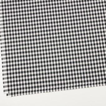 コットン&ポリウレタン×チェック(ブラック)×ポプリンストレッチ サムネイル2