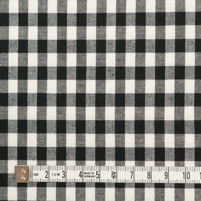 コットン&ポリウレタン×チェック(ブラック)×ポプリンストレッチ イメージ4