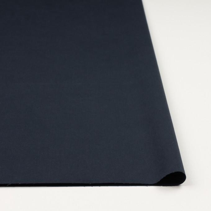 コットン&ポリウレタン×無地(ダークネイビー)×サテンストレッチ_イタリア製 イメージ3