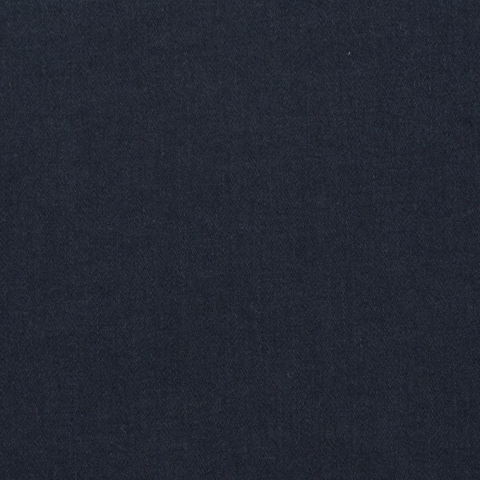 コットン&ポリウレタン×無地(ダークネイビー)×サテンストレッチ_イタリア製 イメージ1