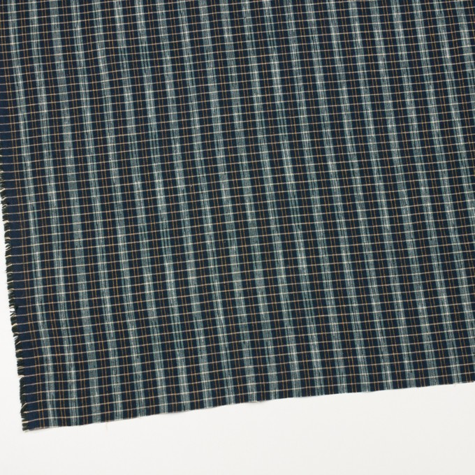 コットン×チェック(スレートグリーン&ダークネイビー)×シーチング イメージ2