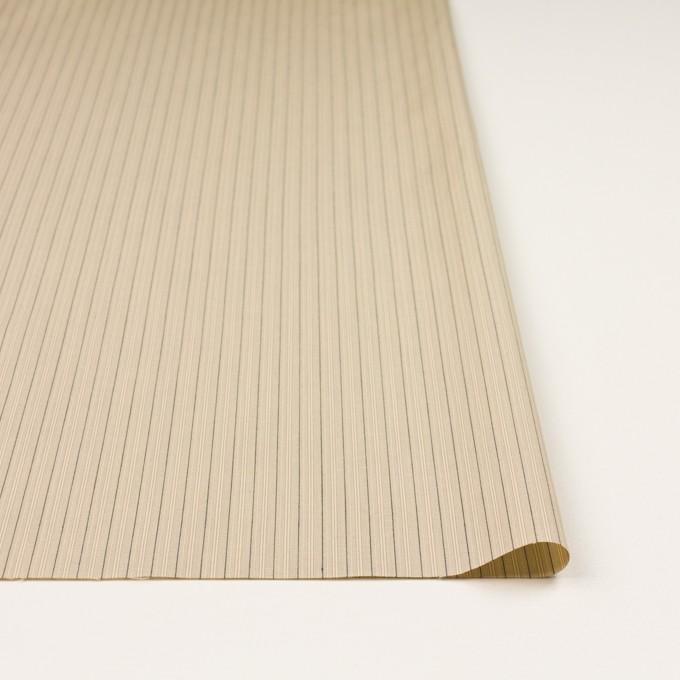 コットン×ストライプ(キナリ、カーキ&ブラック)×かわり織 イメージ3