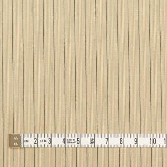 コットン×ストライプ(キナリ、カーキ&ブラック)×かわり織 サムネイル4