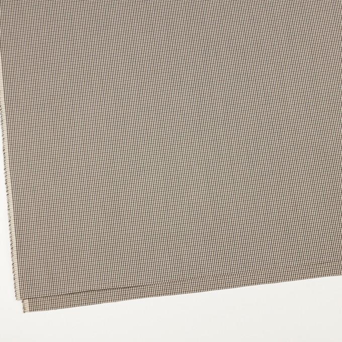 コットン×チェック(キナリ、カーキブラウン&ブラック)×ポプリン イメージ2