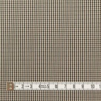 コットン×チェック(キナリ、カーキブラウン&ブラック)×ポプリン サムネイル4
