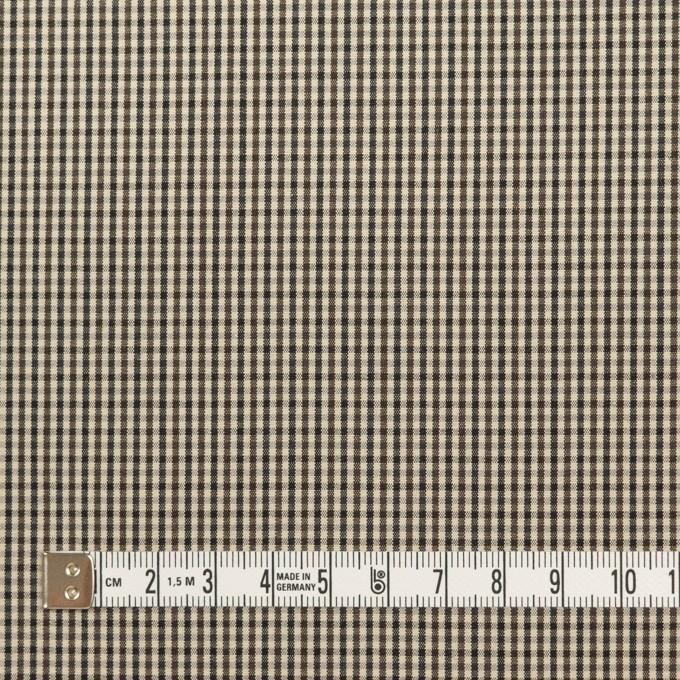 コットン×チェック(キナリ、カーキブラウン&ブラック)×ポプリン イメージ4