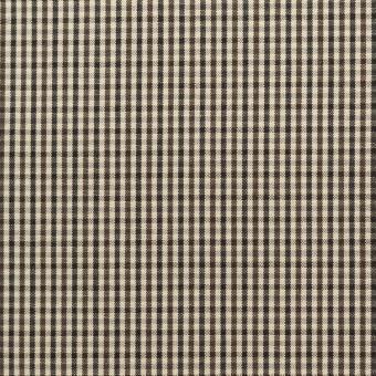 コットン×チェック(キナリ、カーキブラウン&ブラック)×ポプリン