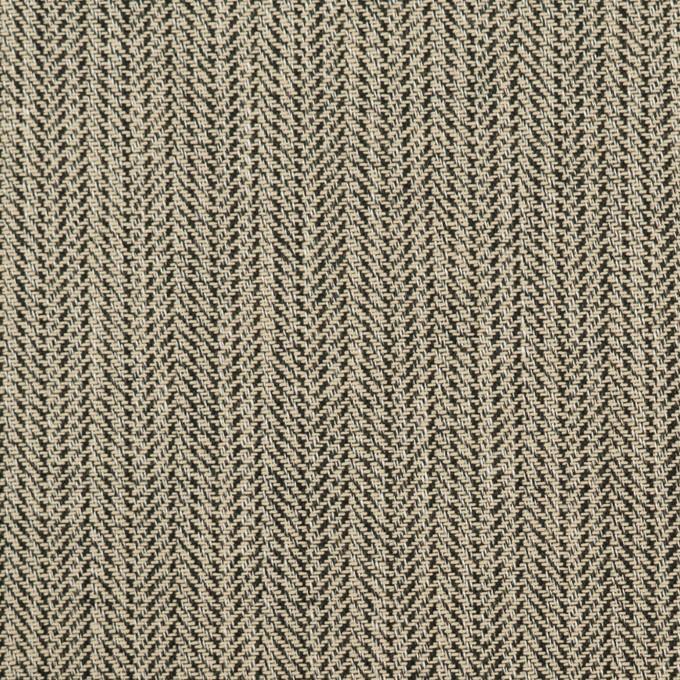 コットン×ミックス(キナリ&ブラック)×ヘリンボーン イメージ1
