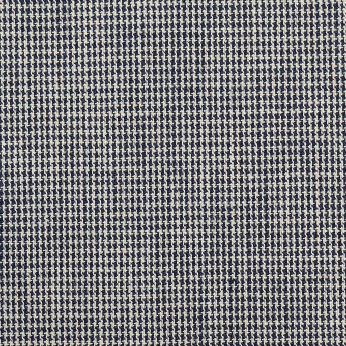 コットン×チェック(ネイビー)×千鳥格子 イメージ1