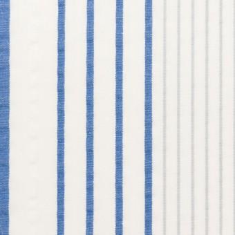コットン×ストライプ(ブルー)×サッカー サムネイル1