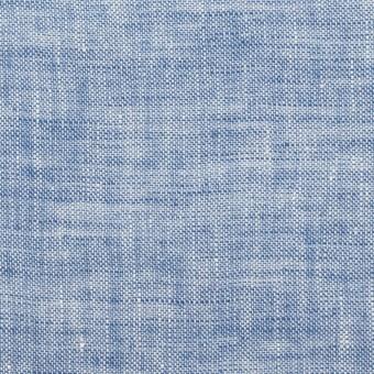 リネン×無地(ブルー)×薄キャンバス・ワッシャー