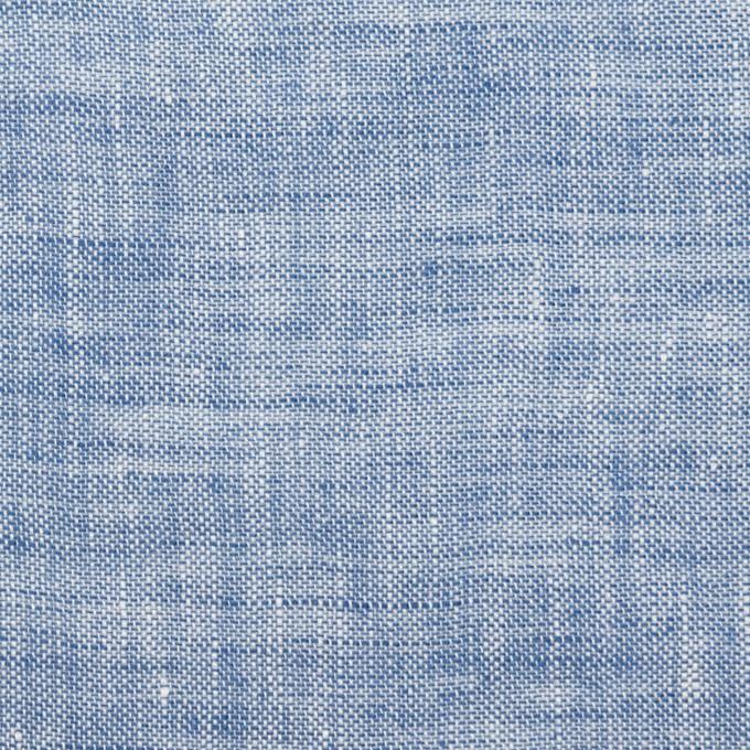 リネン×無地(ブルー)×薄キャンバス・ワッシャー イメージ1