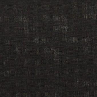 ポリエステル&コットン×チェック(ブラック)×ボイル