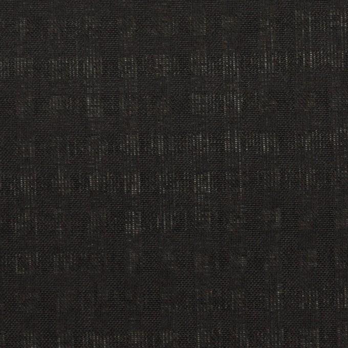 ポリエステル&コットン×チェック(ブラック)×ボイル イメージ1