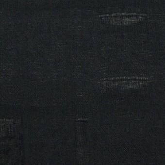 コットン×チェック(ブラック)×二重織ジャガード