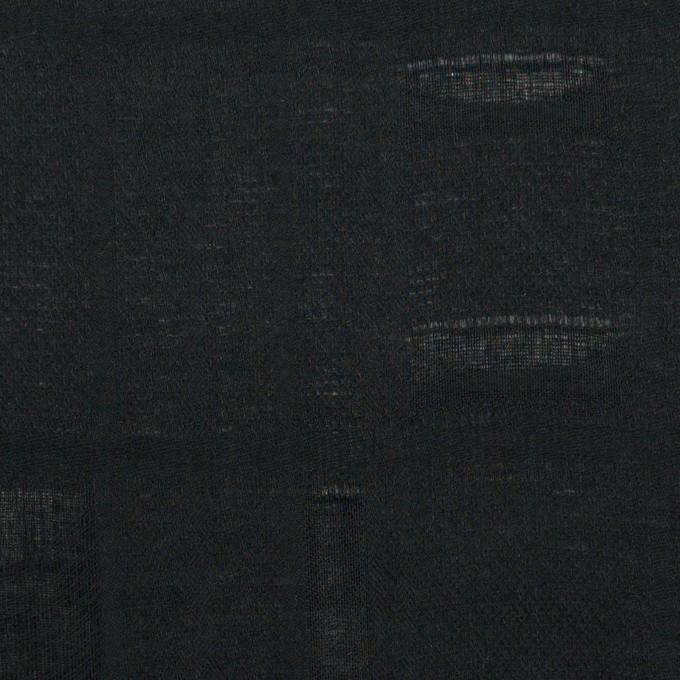 コットン×チェック(ブラック)×二重織ジャガード イメージ1