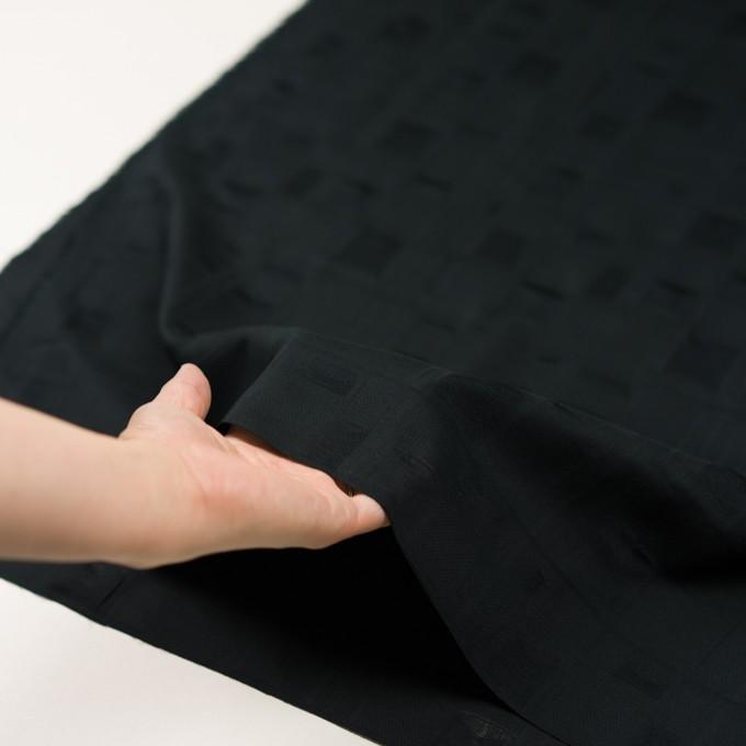 コットン×チェック(ブラック)×二重織ジャガード イメージ5