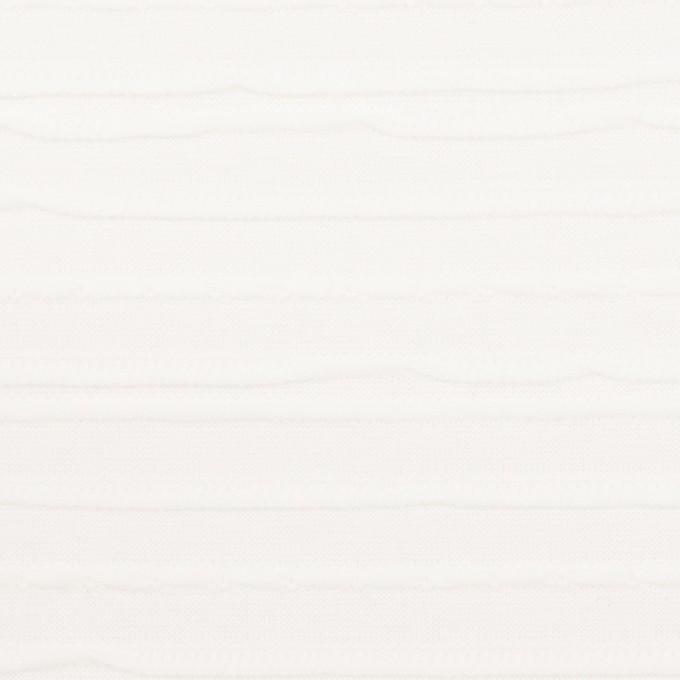 コットン×ボーダー(オフホワイト)×ジャガードニット イメージ1