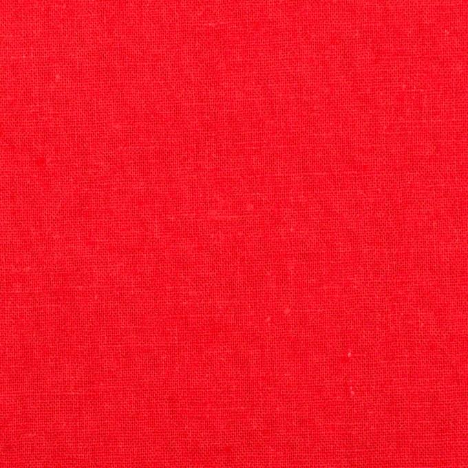 リネン&コットン×無地(パッションレッド)×シーチング_全36色 イメージ1