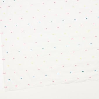 コットン&ポリウレタン×ドット(イエロー、ピンク&サックス)×ボイルシャーリング・カットジャガード_全4色 サムネイル2