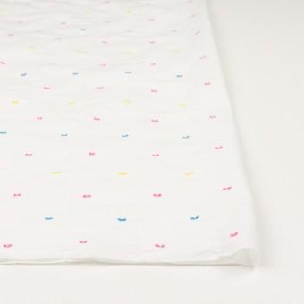 コットン&ポリウレタン×ドット(イエロー、ピンク&サックス)×ボイルシャーリング・カットジャガード_全4色 サムネイル3