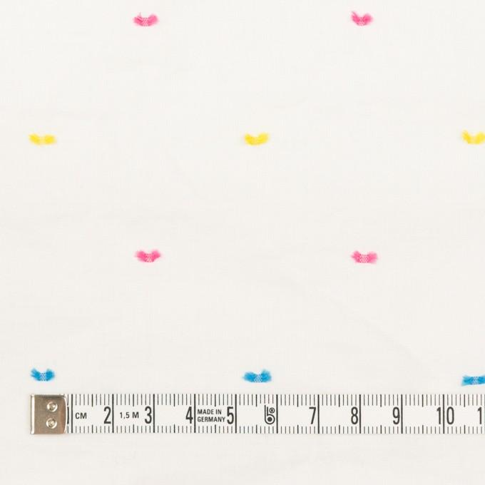 コットン&ポリウレタン×ドット(イエロー、ピンク&サックス)×ボイルシャーリング・カットジャガード_全4色 イメージ4