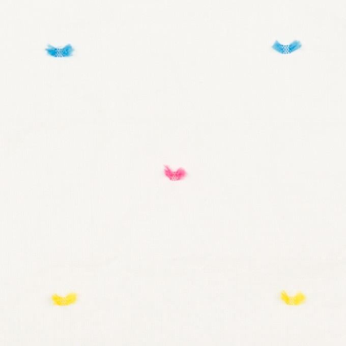 コットン&ポリウレタン×ドット(イエロー、ピンク&サックス)×ボイルシャーリング・カットジャガード_全4色 イメージ1