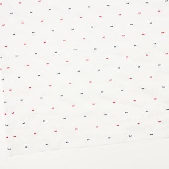コットン&ポリウレタン×ドット(レッド&ネイビー)×ボイルシャーリング・カットジャガード_全4色 サムネイル2