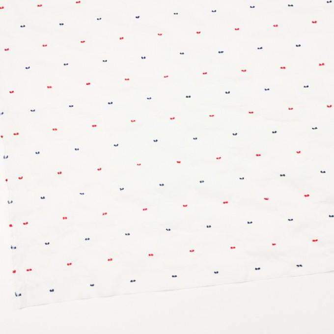 コットン&ポリウレタン×ドット(レッド&ネイビー)×ボイルシャーリング・カットジャガード_全4色 イメージ2