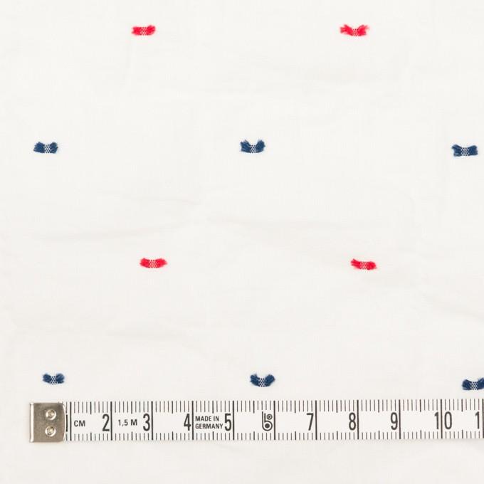 コットン&ポリウレタン×ドット(レッド&ネイビー)×ボイルシャーリング・カットジャガード_全4色 イメージ4