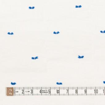 コットン&ポリウレタン×ドット(ブルー)×ボイルシャーリング・カットジャガード_全4色 サムネイル4