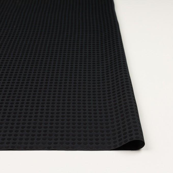 コットン&シルク×水玉(ブラック)×サテンジャガード イメージ3