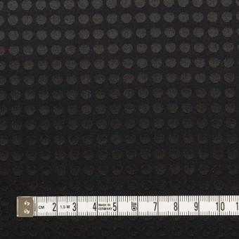 コットン&シルク×水玉(ブラック)×サテンジャガード サムネイル4