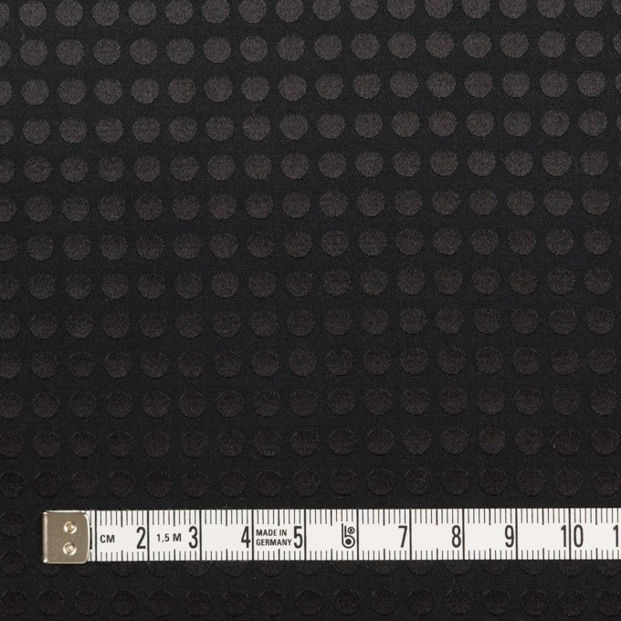 コットン&シルク×水玉(ブラック)×サテンジャガード イメージ4