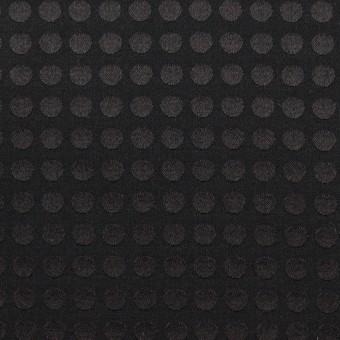 コットン&シルク×水玉(ブラック)×サテンジャガード