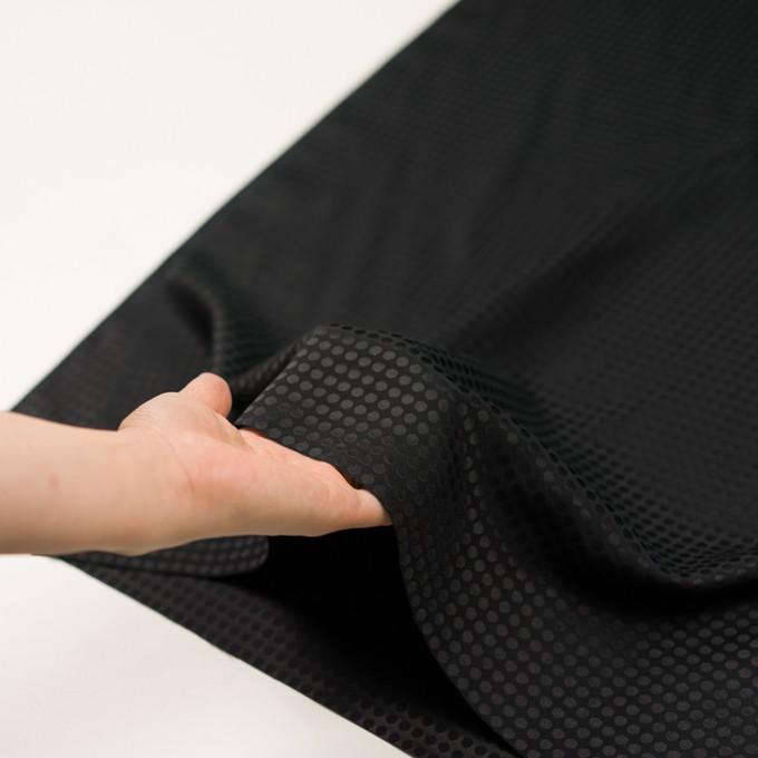 コットン&シルク×水玉(ブラック)×サテンジャガード イメージ5