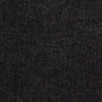 コットン&ポリエステル×無地(ブラック)×サージ
