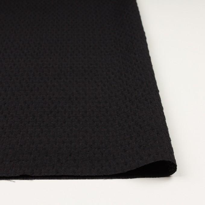 ウール×無地(ブラック)×ボイルジャガード イメージ3