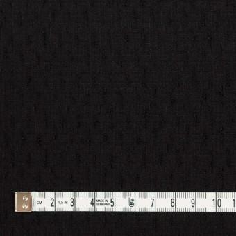 ウール×無地(ブラック)×ボイルジャガード サムネイル4