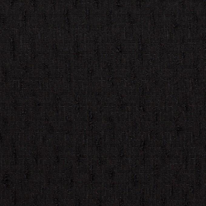 ウール×無地(ブラック)×ボイルジャガード イメージ1