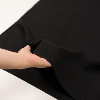 ウール×無地(ブラック)×ボイルジャガード サムネイル5