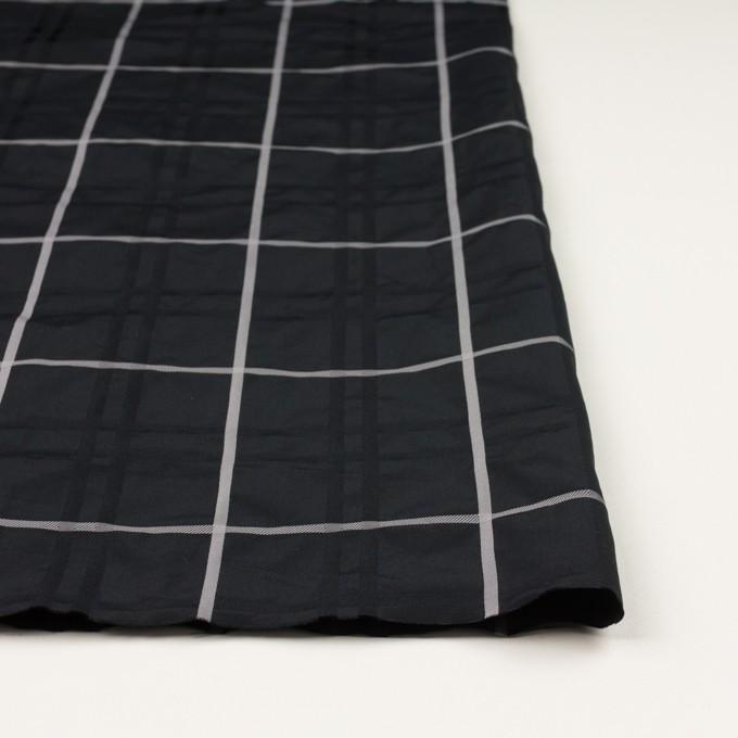 ポリエステル×チェック(ブラック)×形状記憶タフタジャガード イメージ3