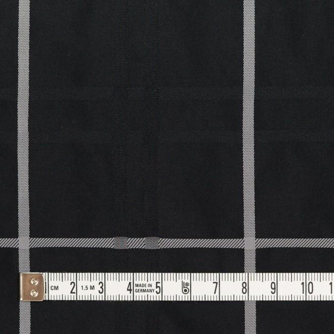 ポリエステル×チェック(ブラック)×形状記憶タフタジャガード イメージ4