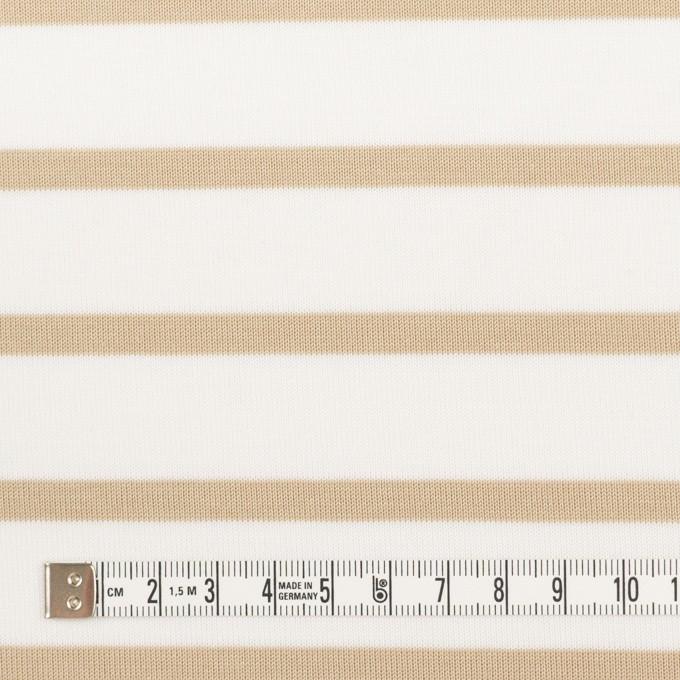 コットン×ボーダー(オークル)×天竺ニット_全2色 イメージ4