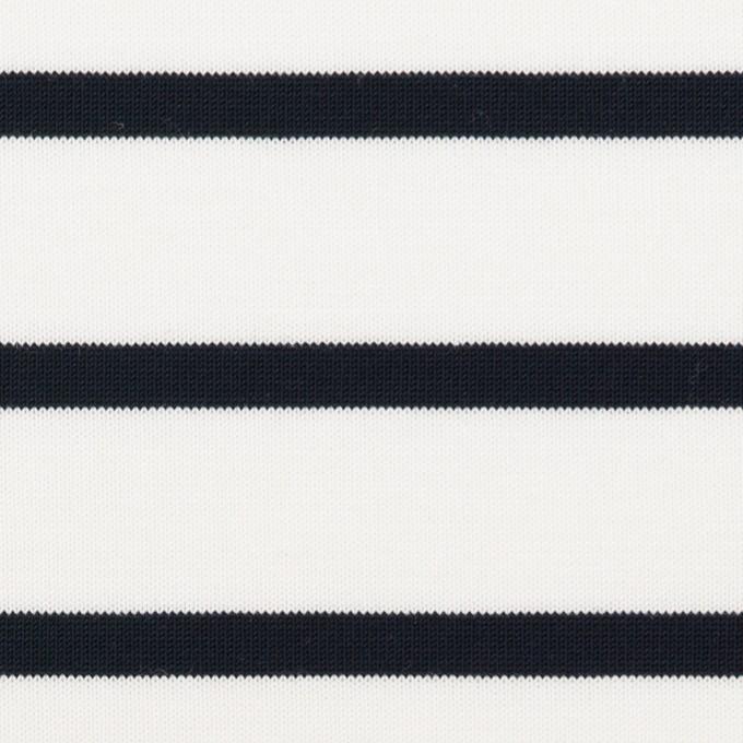 コットン×ボーダー(ダークネイビー)×天竺ニット_全2色 イメージ1