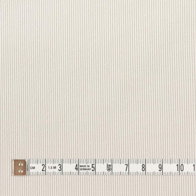 コットン&ポリエステル混×ストライプ(ベージュグレー)×コードレーン・ストレッチ_全3色 イメージ4