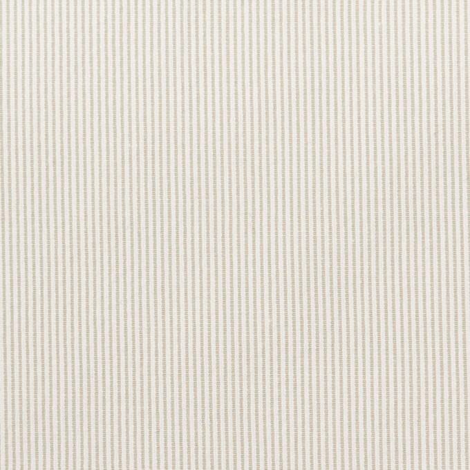 コットン&ポリエステル混×ストライプ(ベージュグレー)×コードレーン・ストレッチ_全3色 イメージ1