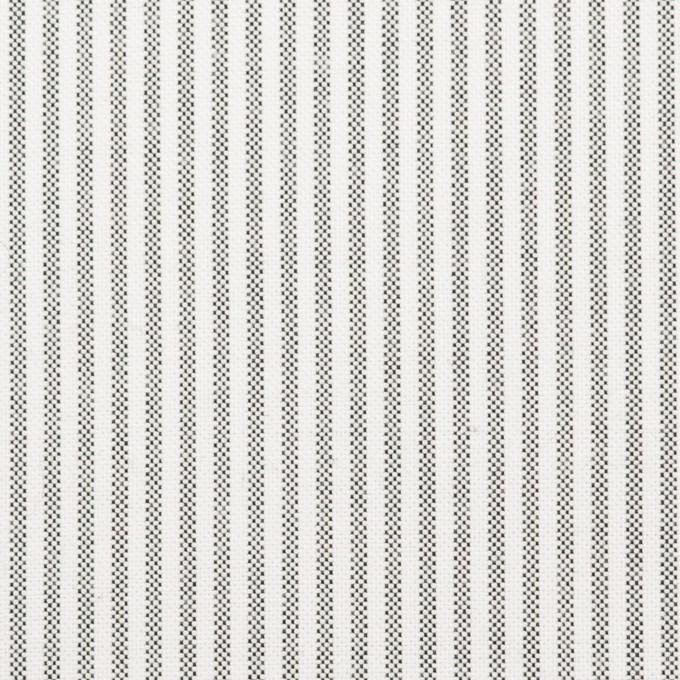コットン×ストライプ(チャコール)×オックスフォード イメージ1