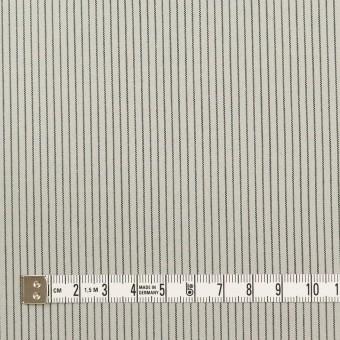コットン&ポリウレタン×ストライプ(モスグレー)×ポプリンストレッチ サムネイル4