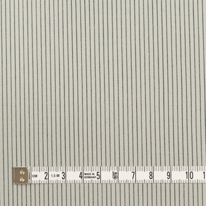 コットン&ポリウレタン×ストライプ(モスグレー)×ポプリンストレッチ イメージ4